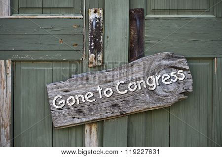 Gone To Congress.