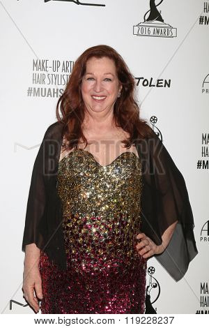 LOS ANGELES - FEB 20:  Sue Cabral-Ebert at the Make-Up Artists And Hair Stylists Guild Awards at the Paramount Studios on February 20, 2016 in Los Angeles, CA