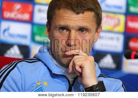 Press-conference Before Uefa Champions League Game Dynamo Kyiv Vs Manchester City In Kyiv, Ukraine