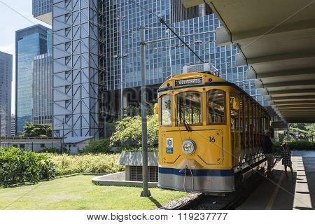 Famous Tram From Lapa To Santa Teresa District, Rio De Janeiro