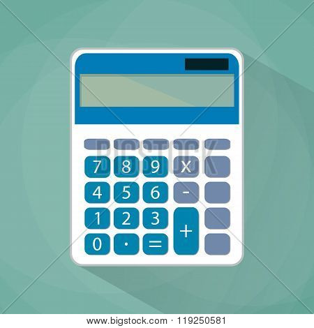 Calculator flat illustration.