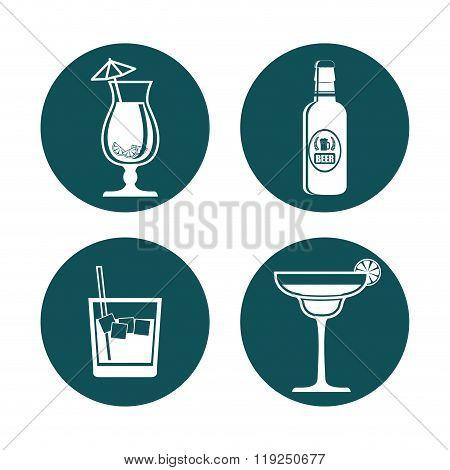 Drinks icon design