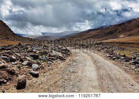 Road in Himalayas. Ladakh, India