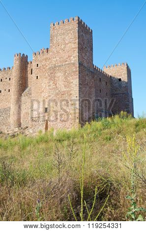 Siguenza Castle, of Arab origin was built in the 12th century is now Parador Nacional de Turismo, Guadalajara, Castilla La Mancha, Spain.