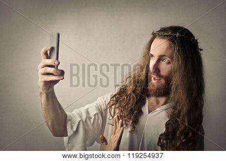 Jesus doing a selfie