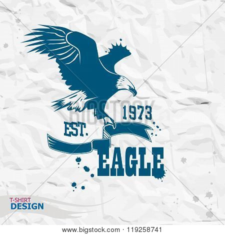 Eagle Illustration, T-shirt Graphics