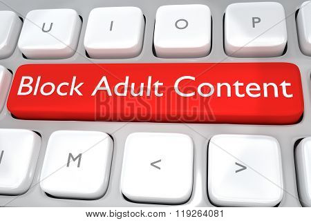 Block Adult Content Concept