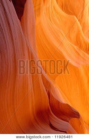 Beautiful sandstone Antelope slot canyon in Arizona USA