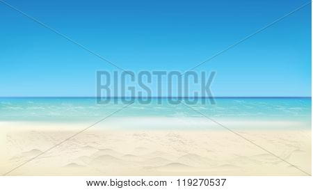Seaside view, summer beach, vacation background