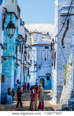 Chefchaouen, Morocco -may 1, 2013: Architecture Of Chefchaouen, Small Town In Northwest Morocco Famo