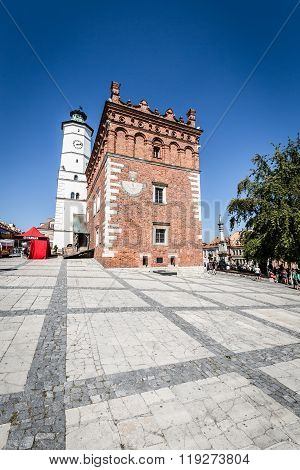 Sandomierz, Poland - August 30:part Of Old Town In Sandomierz Is Among Oldest Towns In Poland