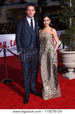 LOS ANGELES - FEB 01:  Channing Tatum & Jenna Dewan-Tatum arrives to the