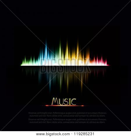 illustration of music equaliser easy editable