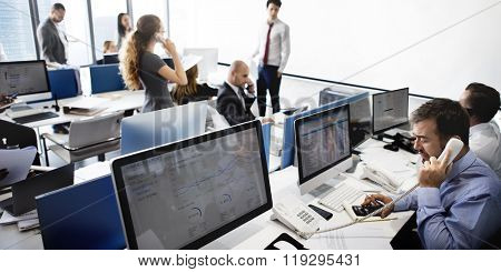 Finance Business People Recession Online Communication Concept