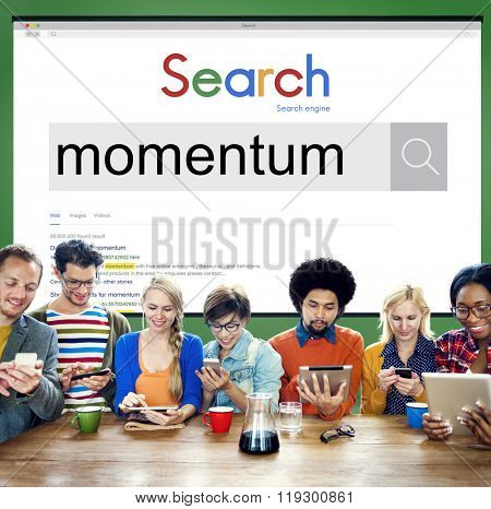 Momentum Business Motion Speed Startup Concept