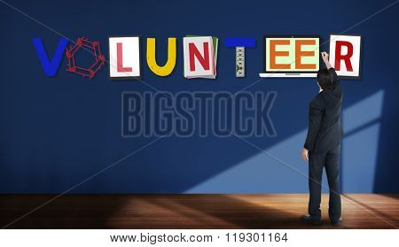 Volunteer Voluntary Support Assist Aid Help Concept
