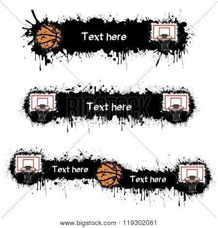 Basketball, Hoop And Blots