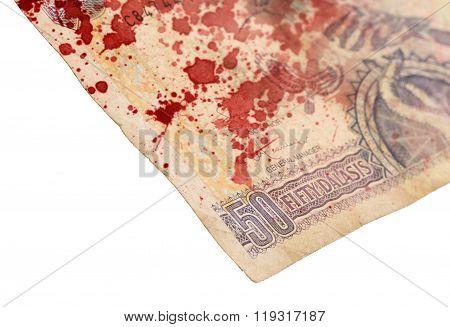 50 Gambian Dalasi Bank Note, Bloody