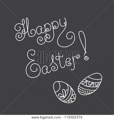 Easter Card With Caligraphic Text