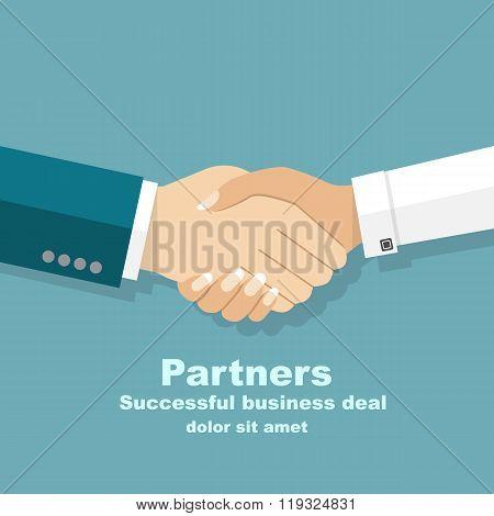 Handshake Men And Women. Handshake Of Business People Partners Businessmen And Businesswomen