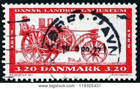 Postage Stamp Denmark 1989 Tractor, 1889