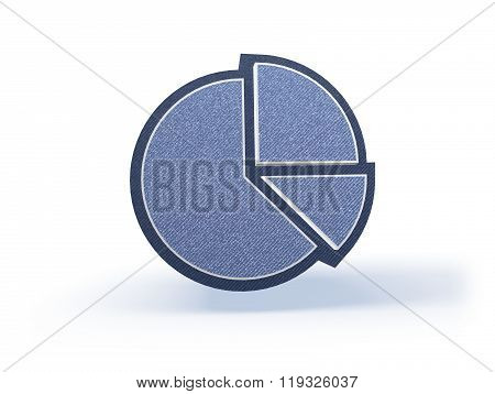 Piechart Shopping Icon In Blueish Denim Look