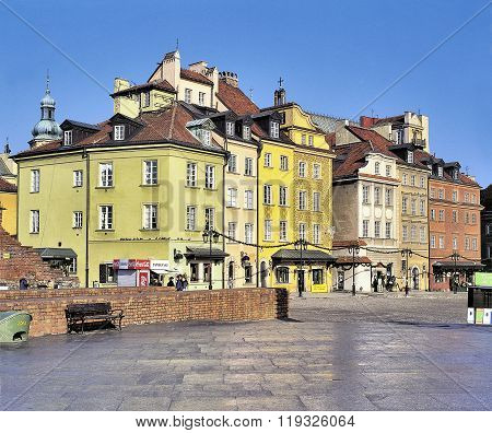 The Castle Square In Warsaw