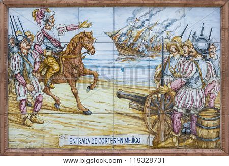 Hernan Cortes Burning The Ships