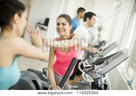 Young People Training In The Gym