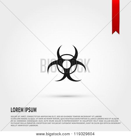 Biohazard Icon. Danger concept. Flat design st