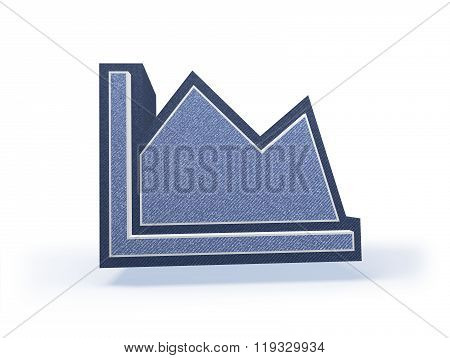 Bargraph Shopping Icon In Blueish Denim Look