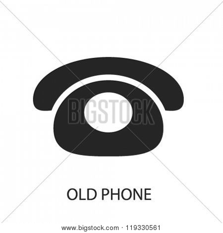 old phone icon, old phone logo, old phone icon vector, old phone illustration, old phone symbol, old phone isolated, old phone image, old phone drawing, old phone concept