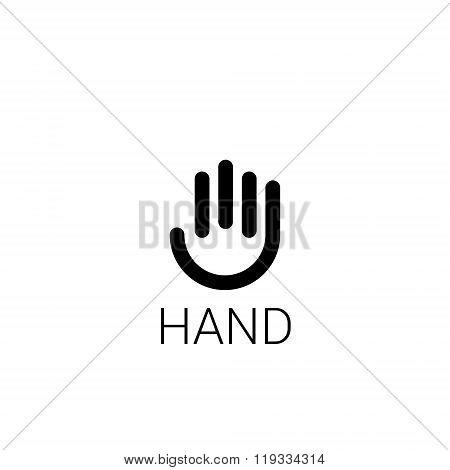 Hand stylized line logo