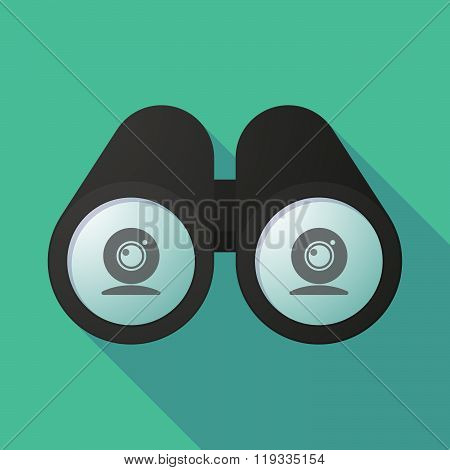 Illustration Of A Binoculars Viewing A Web Cam
