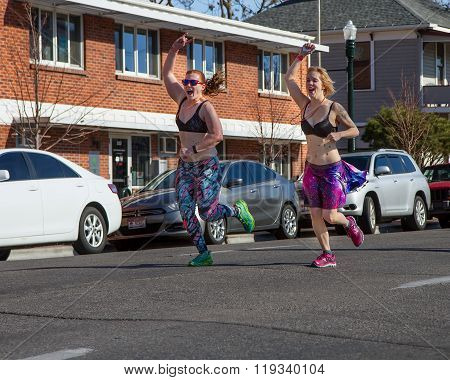 Boise, Idaho/usa February 13, 2016: Group Of People Having Fun During The Cupids Undy Run