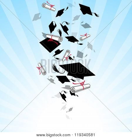 Caps Graduates Whirlwind In The Sky