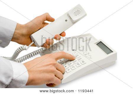 Hände mit Telefon