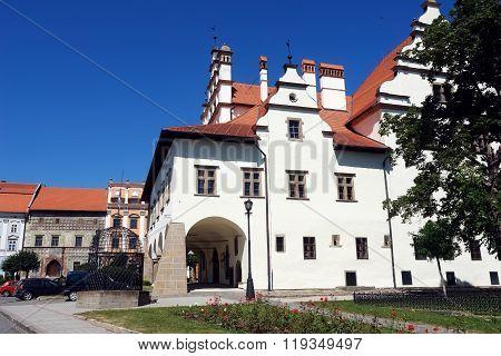 Old Building In Central Square Of Levoca.