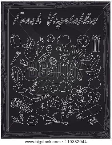 Set Of Fresh Ripe Vegetables