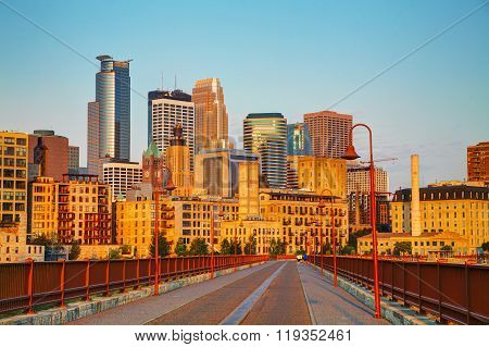 Downtown Minneapolis, Minnesota In The Morning