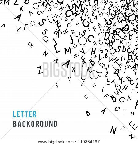 Letters abstract background composition. International Day of the Book or World Book Days. Promotion