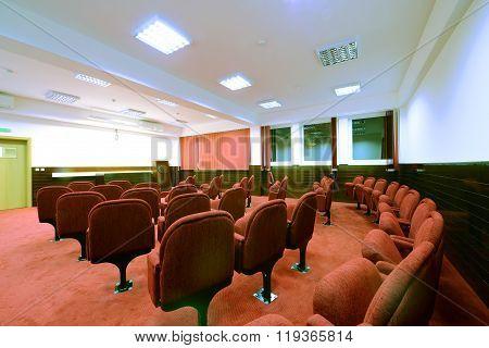 University lecture theater interior , university auditorium