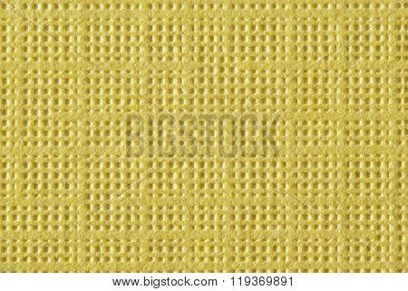 Bright Yellow Textured Paper Macro