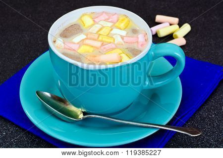 Cocoa with Marshmallows Sweet Food