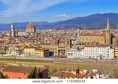Florence from Piazzale Michelangelo, Tuscany, Italy