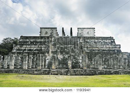 Temple Of The Jaguar Warriors Chichen Itza