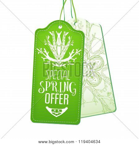 Special Spring Offer tags set