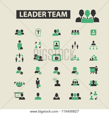 leader team icons, leader team logo, leader team vector, leader team flat illustration concept, leader team infographics, leader team symbols,