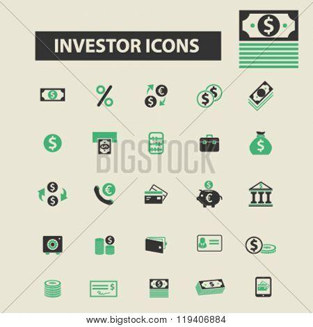 investor icons, investor logo, investor vector, investor flat illustration concept, investor infographics, investor symbols,