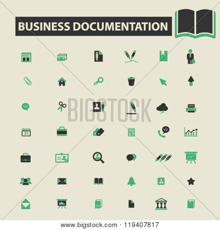 business documentation icons, business documentation logo, business documentation vector, business documentation flat illustration concept, business documentation infographics